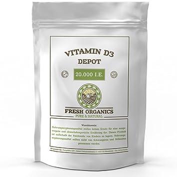 Vitamin D3 20000 Ie Depot 360 Tabletten I Vegan I