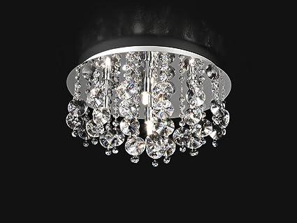 Plafoniere Con Pendenti : Plafoniera con cristalli d cm xg w amazon illuminazione