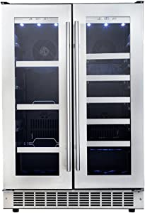 """Danby DBC047D3BSSPR Silhouette Professional 24"""" French Door Beverage Center in Stainless Steel"""