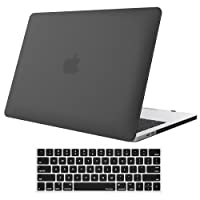MacBook Pro 13 Case 2018 2017 2016 Release A1989/A1706/A1708, ProCase Hard Case Shell Cover and Keyboard Skin Cover for Apple MacBook Pro 13 inch with/Without Touch Bar and Touch ID –Black
