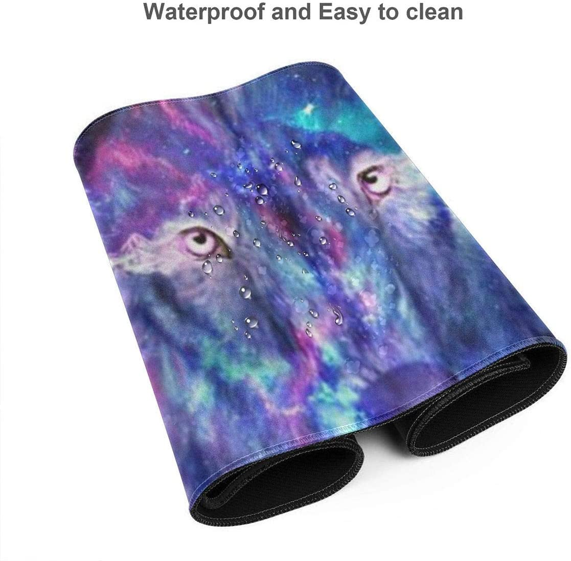 Galaxy Wolf Mouse Pad with Non-Slip Rubber for Computers Laptop Office /& Home One Size