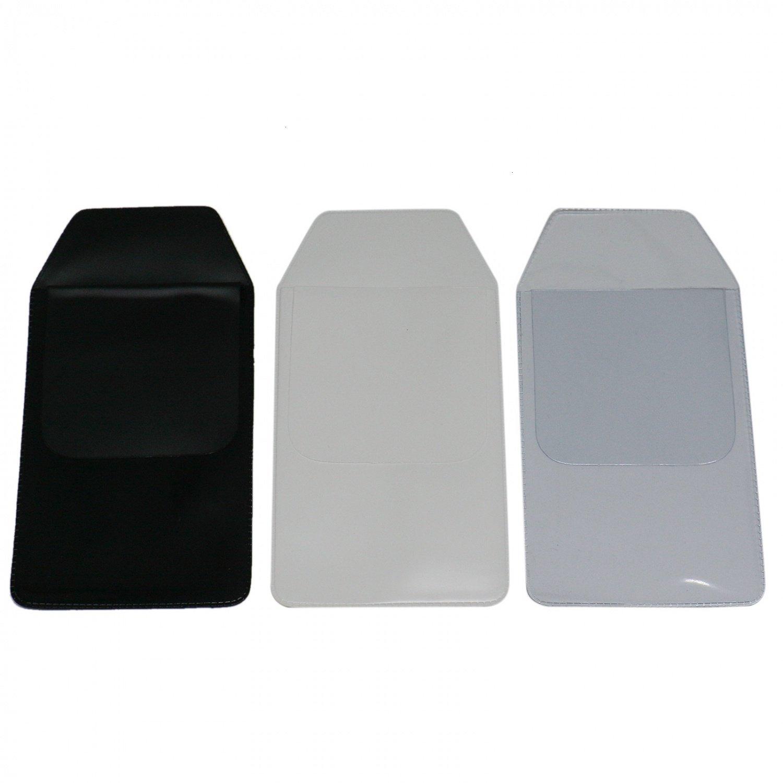 IDS Pack of 24 Pocket Protector for School Hospital Office Shirts Pen Leaks, Black White Transparent