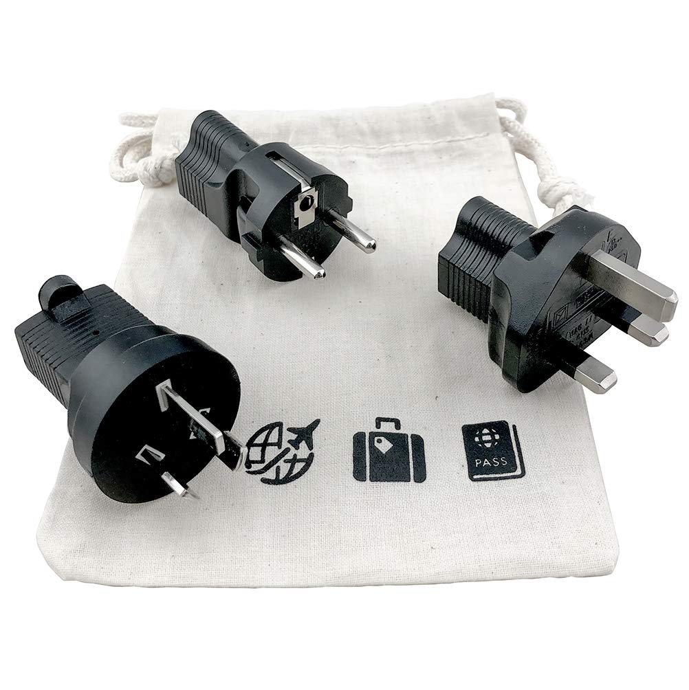 TAP1003 USA Universal 3 Prong International Travel Adapter kit; Adapts to Over 190+ Countries