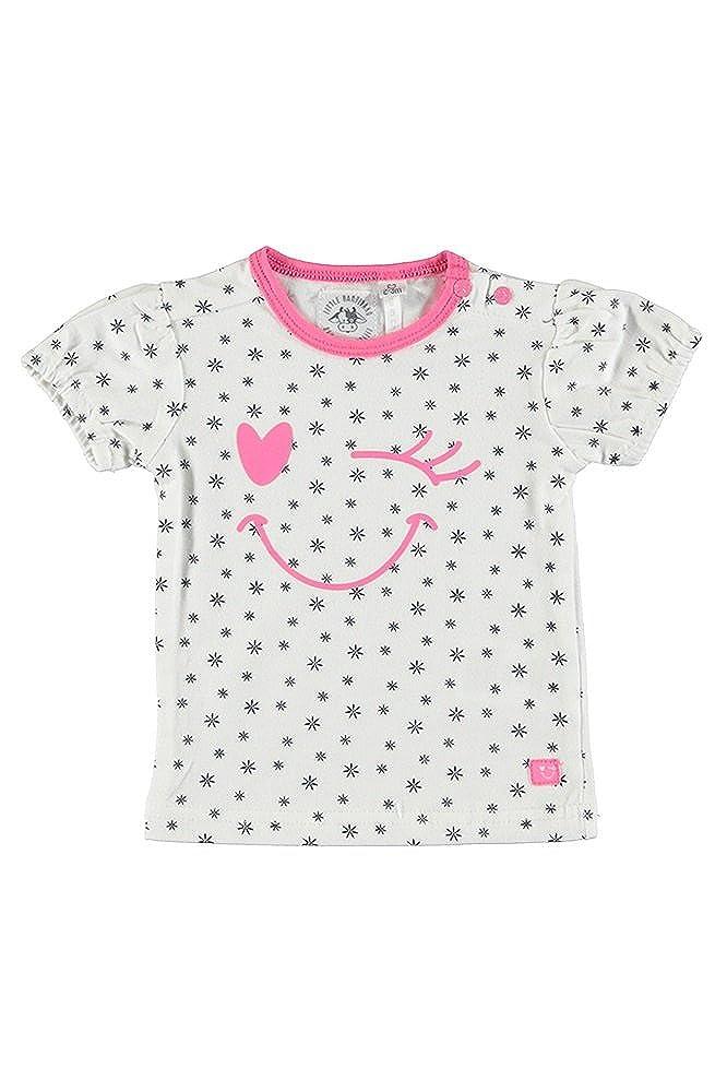 Little Bampidano Baby M/ädchen T-Shirt Offwhite