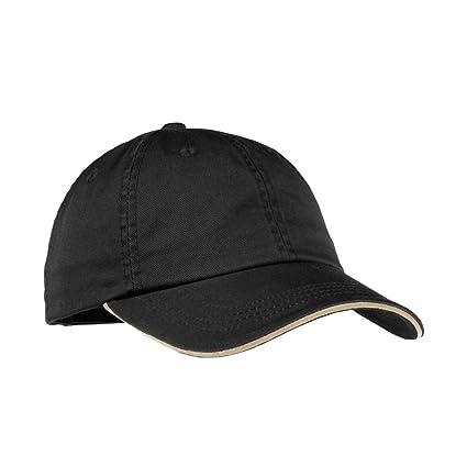 1ab2fb528ef Amazon.com   Port Authority Signature Ladies Sandwich Bill Cap with Striped  Closure. LC830 - Black Khaki OSFA   Golf Caps   Everything Else