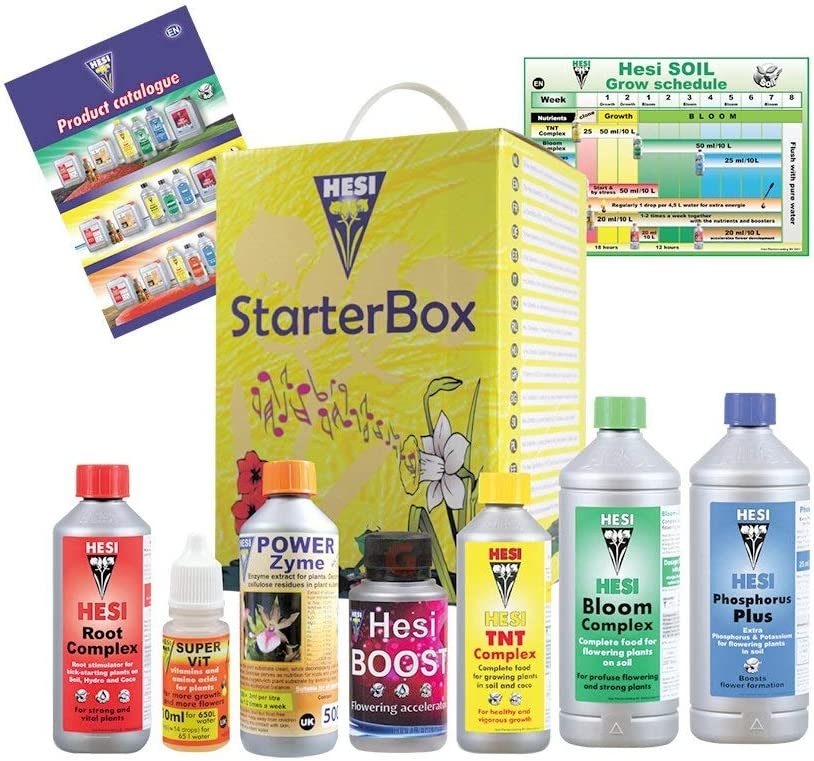 Hesi Starter Kit Suelo Nutriente Cannabis Grow Fertilizante Booster