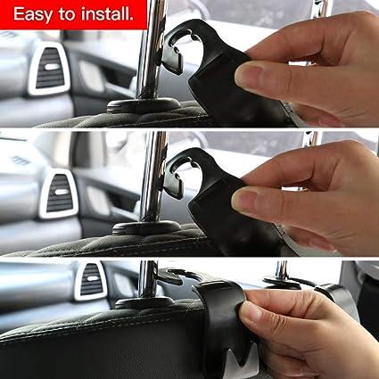 Vozada Auto Aufbewahrungshaken 4 Stück Autositz Kleiderhaken Zum Aufhängen Von Taschen Handtaschen Organizer Aufbewahrungstasche Aus Kunststoff Schwarz Baumarkt