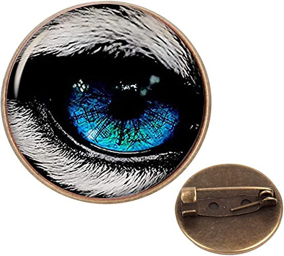 Pinback Buttons Badges Pins Animal Eyes Photo Lapel Pin Brooch Clip Trendy Accessory Jacket T-Shirt Bag Hat Shoe