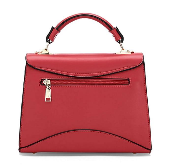 Sacs à main pour femme Xinmaoyuan Pu Color Cross Section simple boucle simple petit sac épaule Sac Messenger Sac,Black