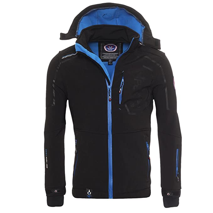 Canadian Peak by Geographical Norway - Chaqueta de forro polar para exterior, color negro,