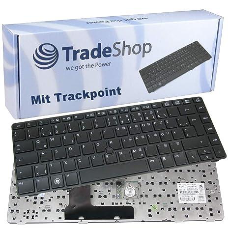 Teclado de ordenador portátil/Notebook Keyboard para Intercambio Alemán QWERTZ con TrackPoint para HP EliteBook