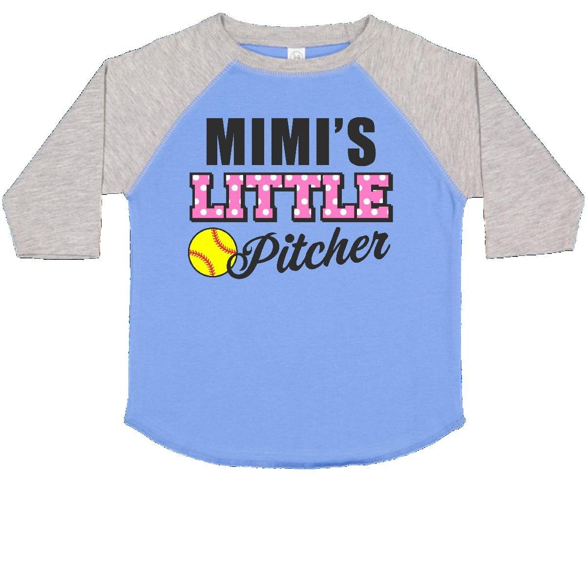 inktastic Mimis Little Pitcher Softball Toddler T-Shirt