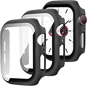 [2 Pack] Compatible with Apple Watch Series 3 2 1 Case with Screen Protector 42mm, Full Coverage Anti-Scratch Screen Protector Matte Protective Case Cover for Apple Watch 42mm Series 3 2 1