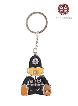 Llavero con imagen de policía de Londres (metal, cadena de ...