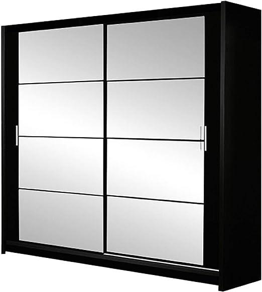 Mirjan24 Johnson 160 - Armario de Puertas correderas con Espejo, Armario de Dormitorio, Elegante Puerta corredera, Dormitorio: Amazon.es: Juguetes y juegos