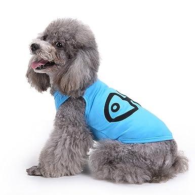 HongYu Chaleco para mascotas, abrigo de punto Mascota Ropa para perros pequeños Camiseta Pecho Protector Ropa de moda Dos pies Chaleco de desgaste Traje 4 ...