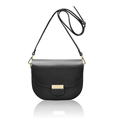 c0f90dcffa72d HELEN Italian Saddle crossbody mini bag cluth wallet shoulder strap grained  stiff leather Made in Italy