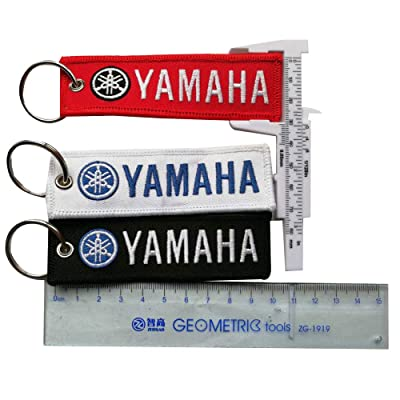 3pc Embroidered Tag Keychain Key Ring for Yamaha Motorcycles Bike Biker Key Chain Bag Phone ChainAccessories Gifts: Office Products