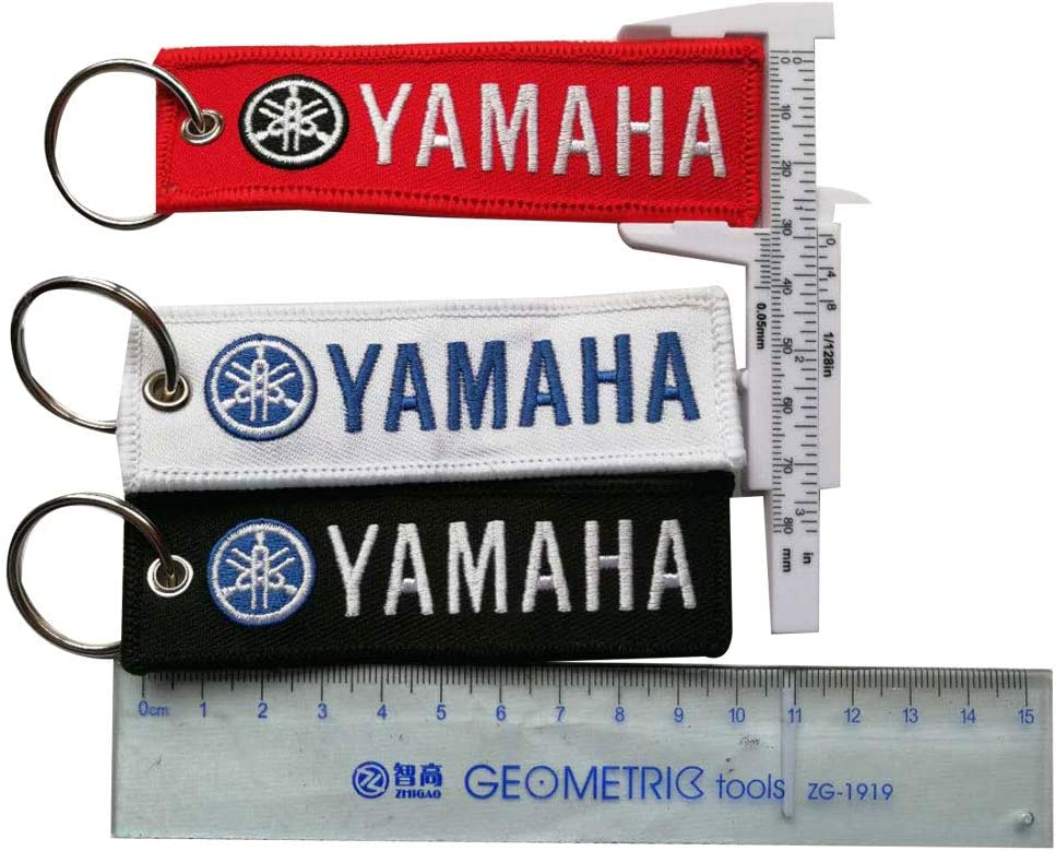 3pc Embroidered Tag Keychain Key Ring for Yamaha Motorcycles Bike Biker Key Chain Bag Phone ChainAccessories Gifts