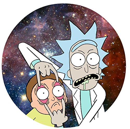"""Price comparison product image Rick & Morty Image Photo Cake Topper Sheet Birthday Party - 8"""" ROUND - 17734"""