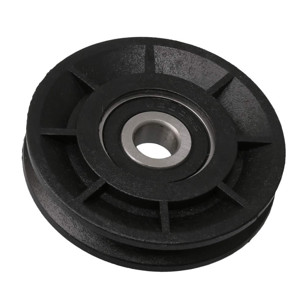 CNBTR garaje puerta Abrelatas de nailon con polea para rodamiento de ruedas ranura para equipamiento de gimnasio polea V