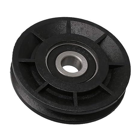 Yibuy 60 mm OD Negro Groove rodamiento polea Cable Rueda para Equipo de Gimnasio Piezas