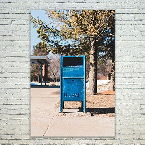 Westlake Art Poster Print Wall Art - Blue Tree - Modern Pict
