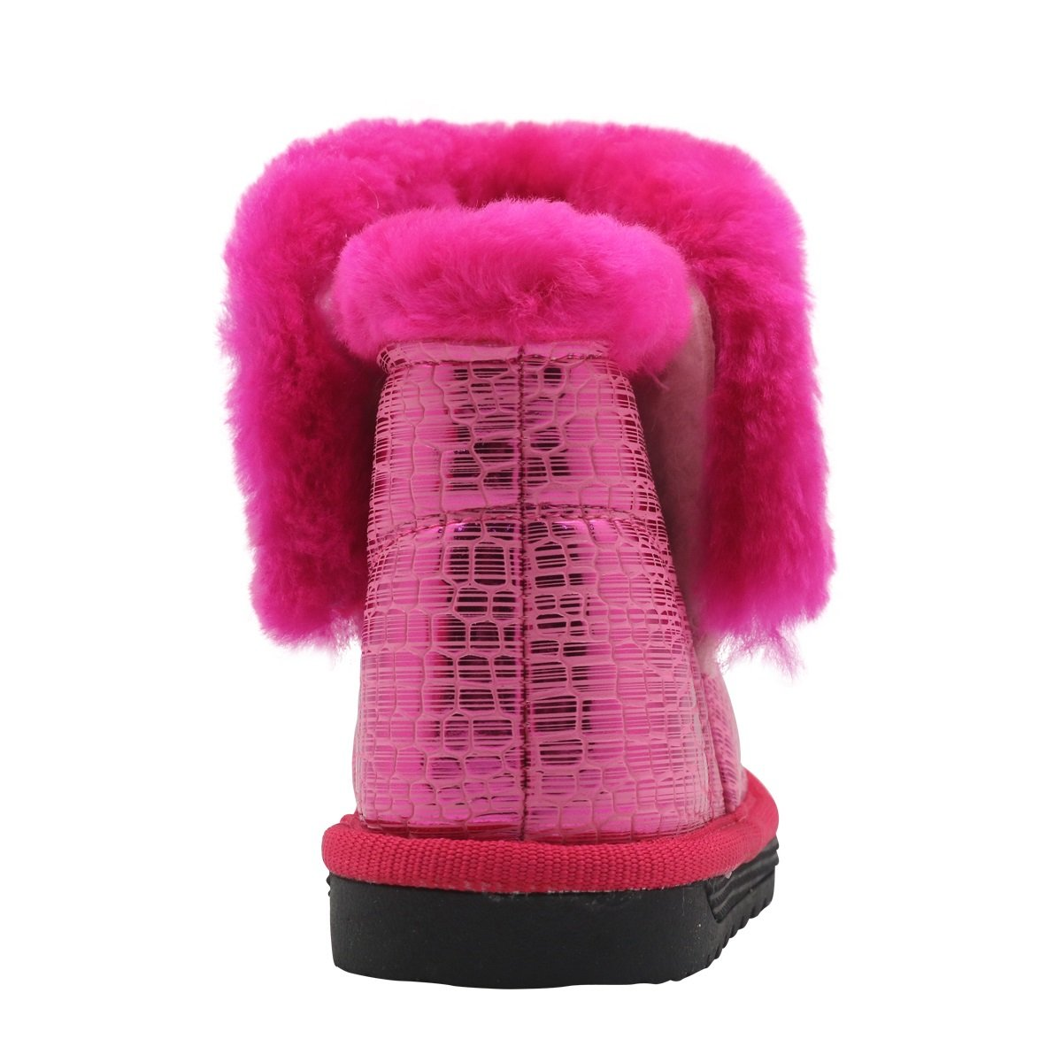 Color : Pink , Size : 8 M US Toddler Non-Slip Toddler Shoes Girls Warm Winter Flat Shoes Fur Snow Boots with Woolen Lining Durable