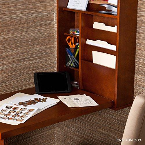 037732092904 - Fold-Out Convertible Desk - Walnut carousel main 4