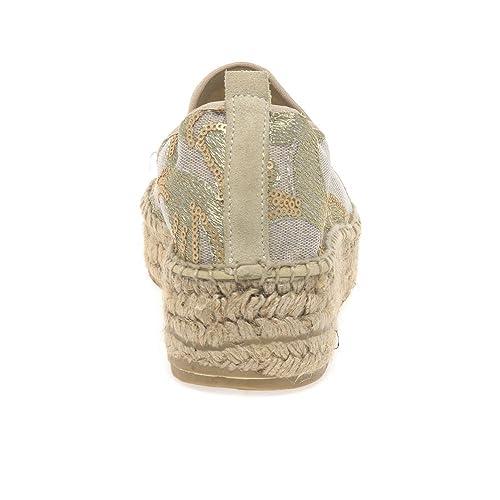 Lisa Kay Zara Mujer Alpargatas 8/41 Cordón De Oro: Amazon.es: Zapatos y complementos