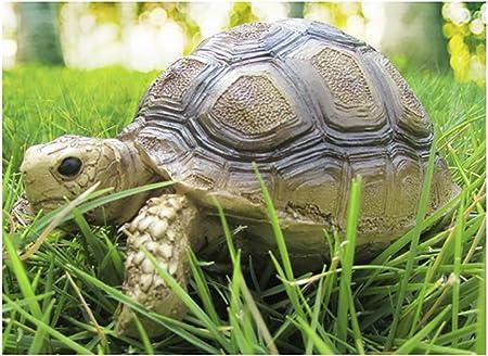 Funnuf Tortuga Decoración de Jardín Animal Estatua Polirresina a Todo Color (Plantas no Incluidas): Amazon.es: Hogar