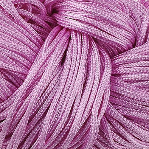 Hot Sale 19 Colors Nylon Cord Thread Chinese Knot Macrame Rattail 1mm20M Shamballa Rope for DIY Bracelet Braided - (Color: 6)