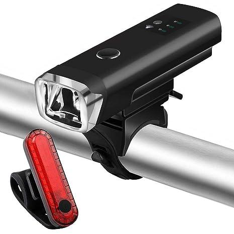 BF-DCGUN Juego De Luces LED para Bicicleta Recargable, Luces ...
