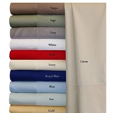 Split-King: Adjustable King Gray Silky Soft bed sheets 100% Rayon from Bamboo Sheet Set