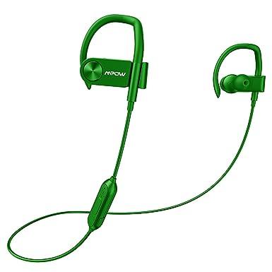 Mpow D2 Bluetooth auriculares, IPX7 resistente al agua inalámbrico auriculares deporte auriculares con mando a
