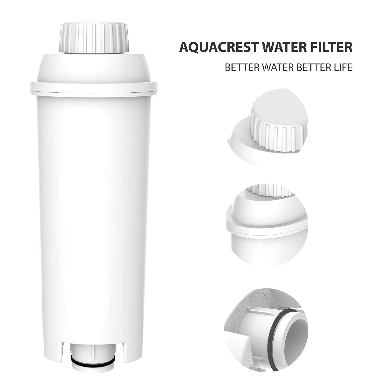 AquaCrest AQK-11 Reemplazo del filtro de agua para máquinas de café - DeLonghi DLSC002, SER3017 & 5513292811 - incluyendo varios modelos de ECAM, ESAM, ...