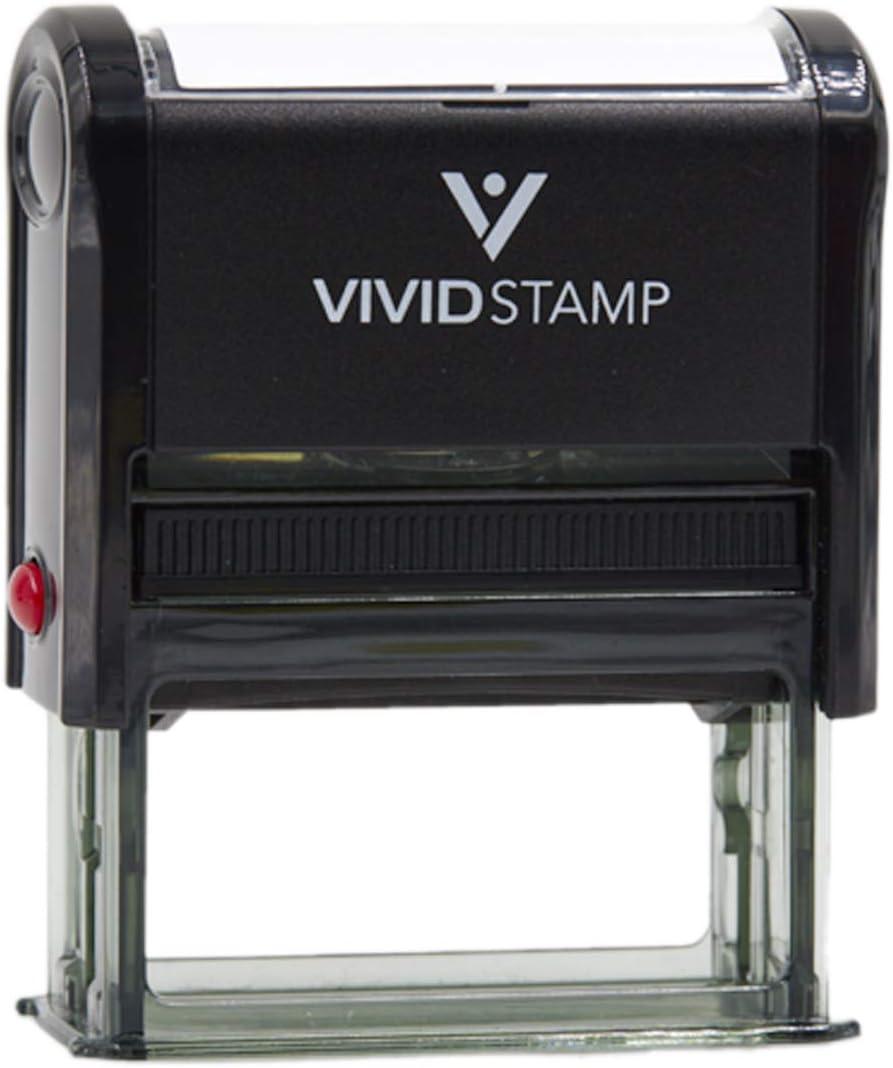 Meh Self Inking Rubber Stamp (Black Ink) - Medium