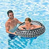 DSFGHE High Velocity Tyre Tube Inflatable?Adults Rubber Ring Water Toy Thick Pool Float Ring?Summer Beach Pool Float