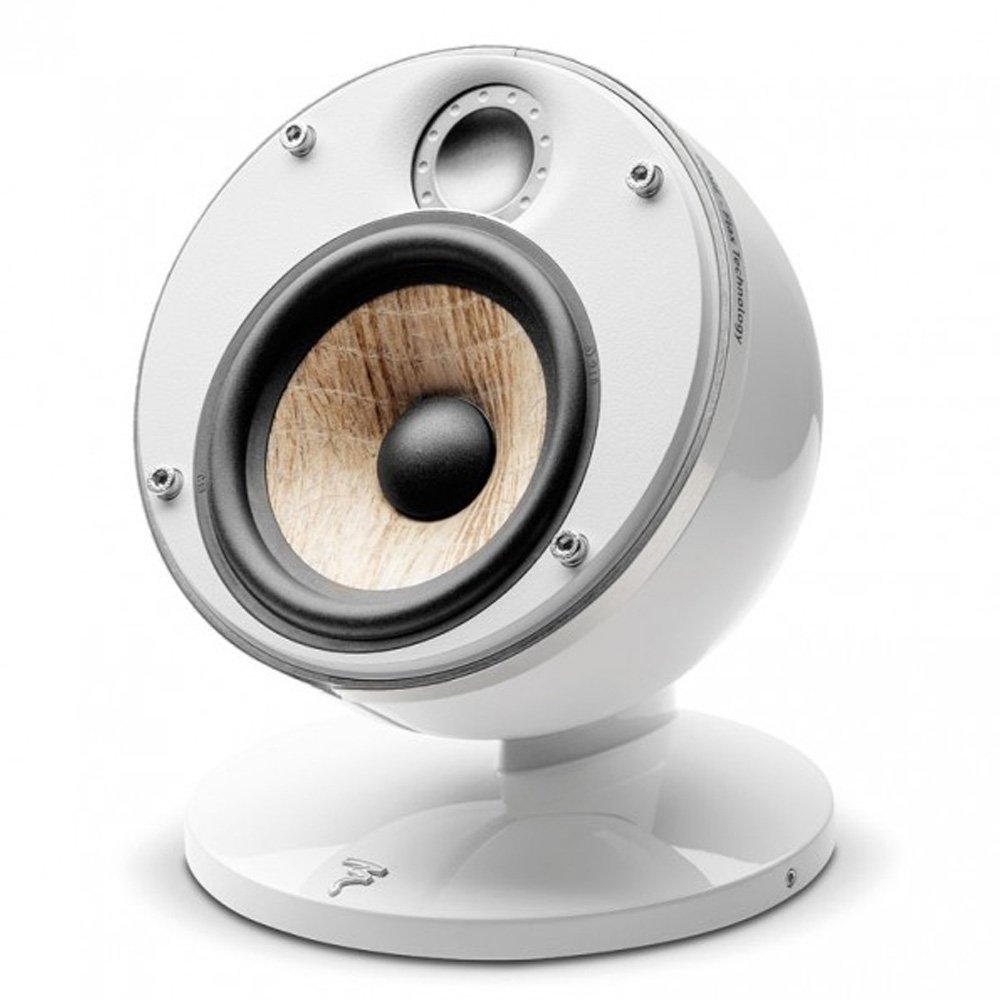 Focal Dome Flax 2-Way Compact Sealed Satellite Speaker (Single, White)