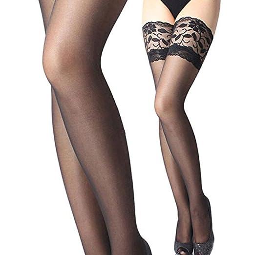 be65d7c10cb Fabal New Women Thigh High Silk Stockings Sexy Repair Leg Show Thin Silk  Stockings (Black