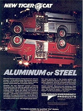 Amazon com: 1981 GMC Grumman Tiger Cat Fire Truck Ad South Toe