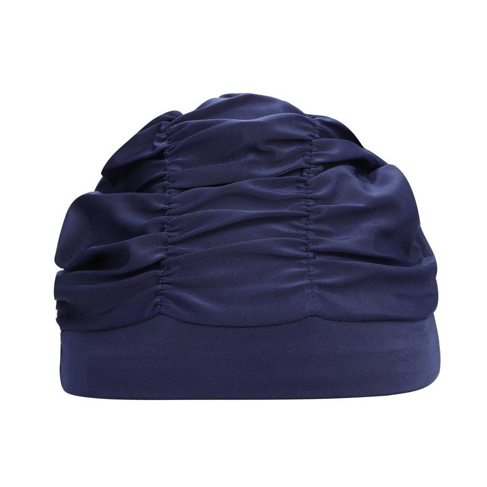 Unisex Damen Herren Badekappe Bademütze Badehaube elastische Schwimmhaube Schwimmkappe für Erwachsene Jugendliche für Lange Haare Qchomee