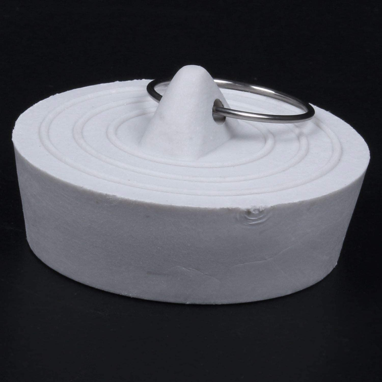 Blanco Apagado RETYLY Caucho Fregadero de la Banera Lavabo Colado Tapon del Enchufe