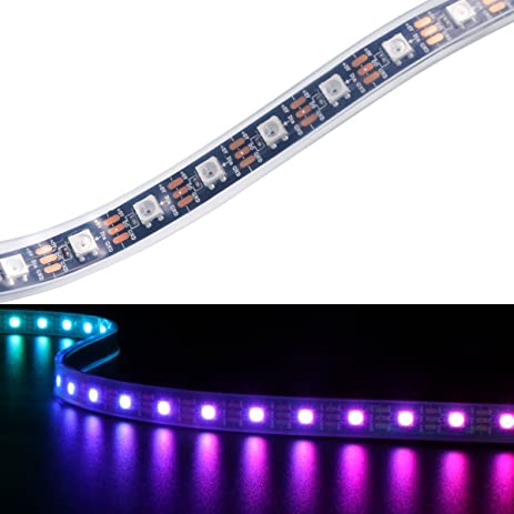Amazon yaqing lighting 32ft1m ws2812b programmable led strip yaqing lighting 32ft1m ws2812b programmable led strip light 60 pixels individually addressable dream aloadofball Choice Image