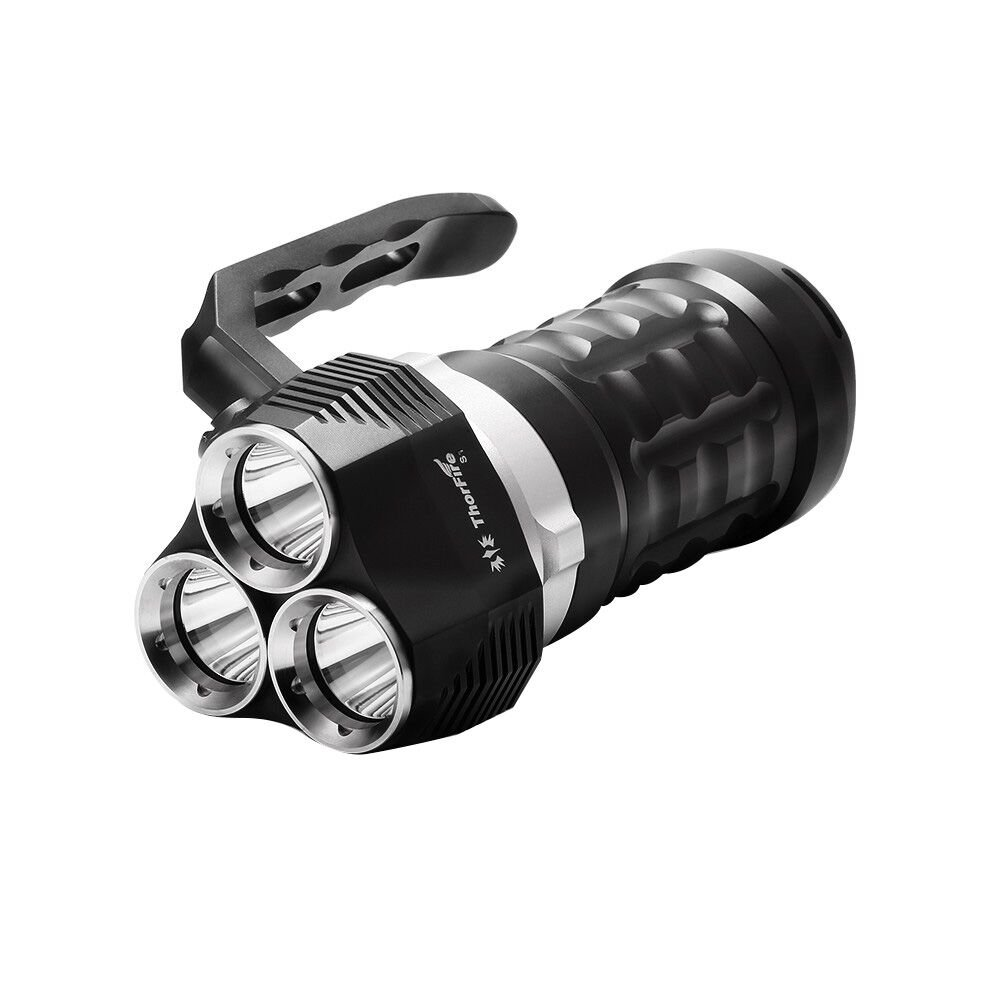 Thorfire Scuba Diving Flashlight 2000 Lumen IPX8 Waterproof Searchlight with 3 XPL LED Powerful Light Underwater 230ft Torch, Rechargeable 18650 Battery Not Included by Thorfire