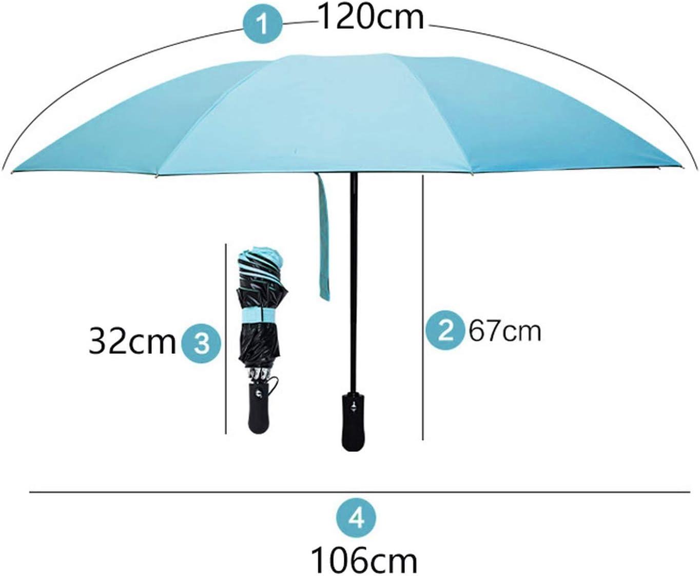 Automatic Inverted Umbrella Rain Women Black Coating Sun Folding Umbrella Kids Windproof Car Umbrella Men Paraguas Mujer Parasol,Sky Blue