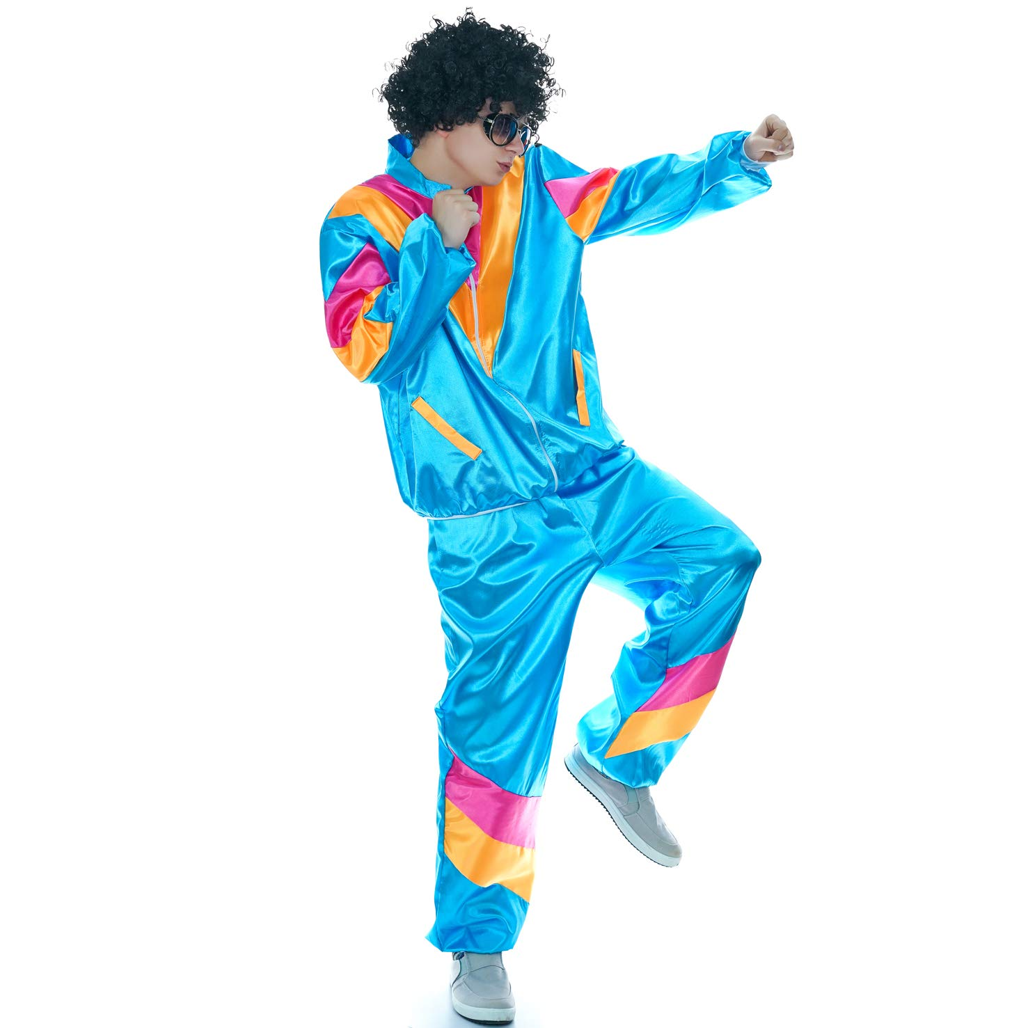 Amazon.com: DSplay Disfraz de hippie para hombre: Clothing