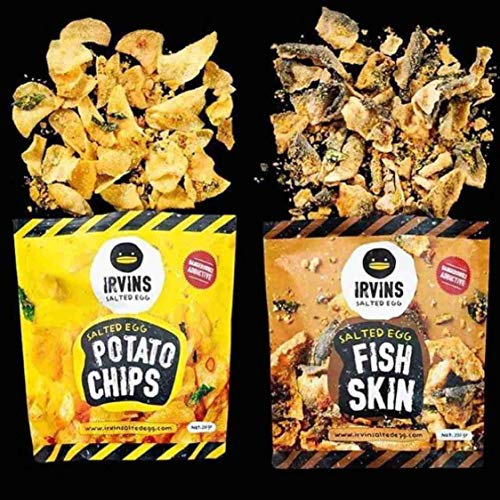 (Irvins Salted Egg Potato Chips And Fish Skin (105gram Set of 2))