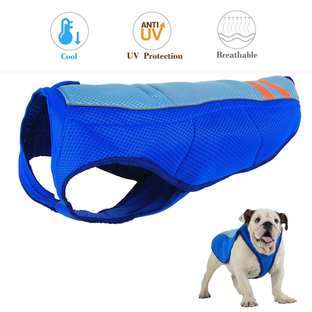 bluee XL bluee XL Cooling Cool Summer Dog Coat, Breathable Dog Cooling Vest, Outdoor Anti-Heat Adjustable Jacket for Small Medium and Large Pet Dogs
