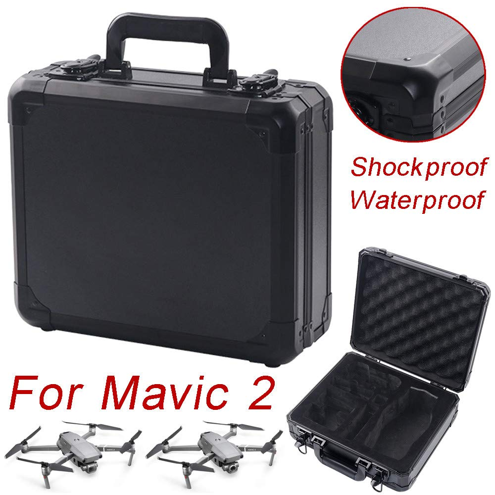 Alonea Portable Drone Bags, Military Spec Hardshell Carrying Case Waterproof Storage Case for DJI Mavic 2 (Black❤️) by Alonea (Image #1)